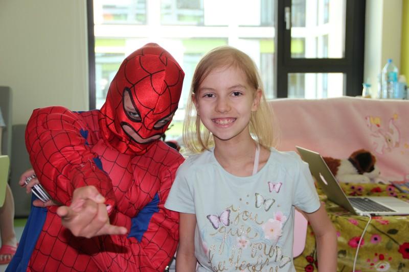 Spiderman na oddziale na Trojdena