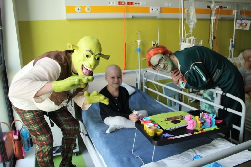 Wizyta Shreka i Fiony na warszawskich oddziałach