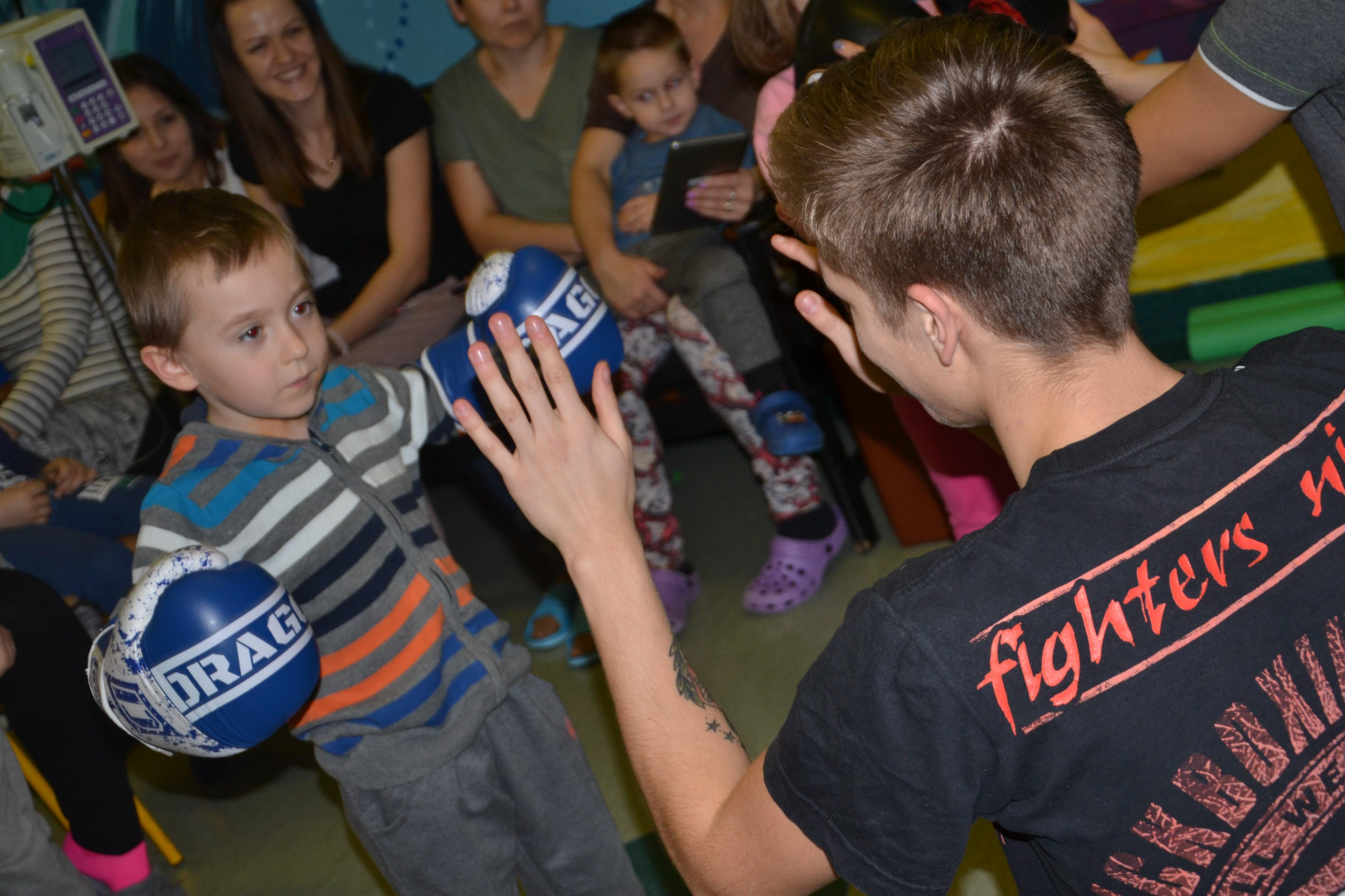 Pokaz kickboxingu na oddziale w Kielcach!